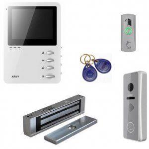 Комплект видеодомофона и замка