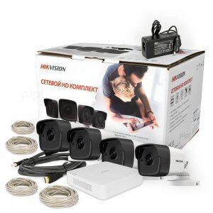 Комплект IP видеонаблюдения Hikvision NK4E0-1T