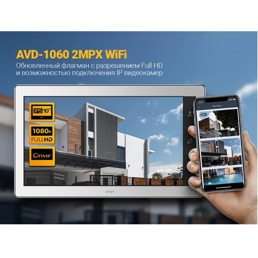 Новый видеодомофонARNY AVD-10602MPX WiFi